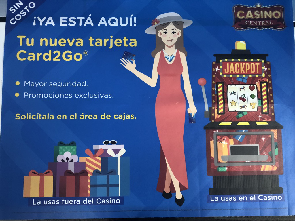 Card2Go launched at Casino Central in Hermosillo Mexico